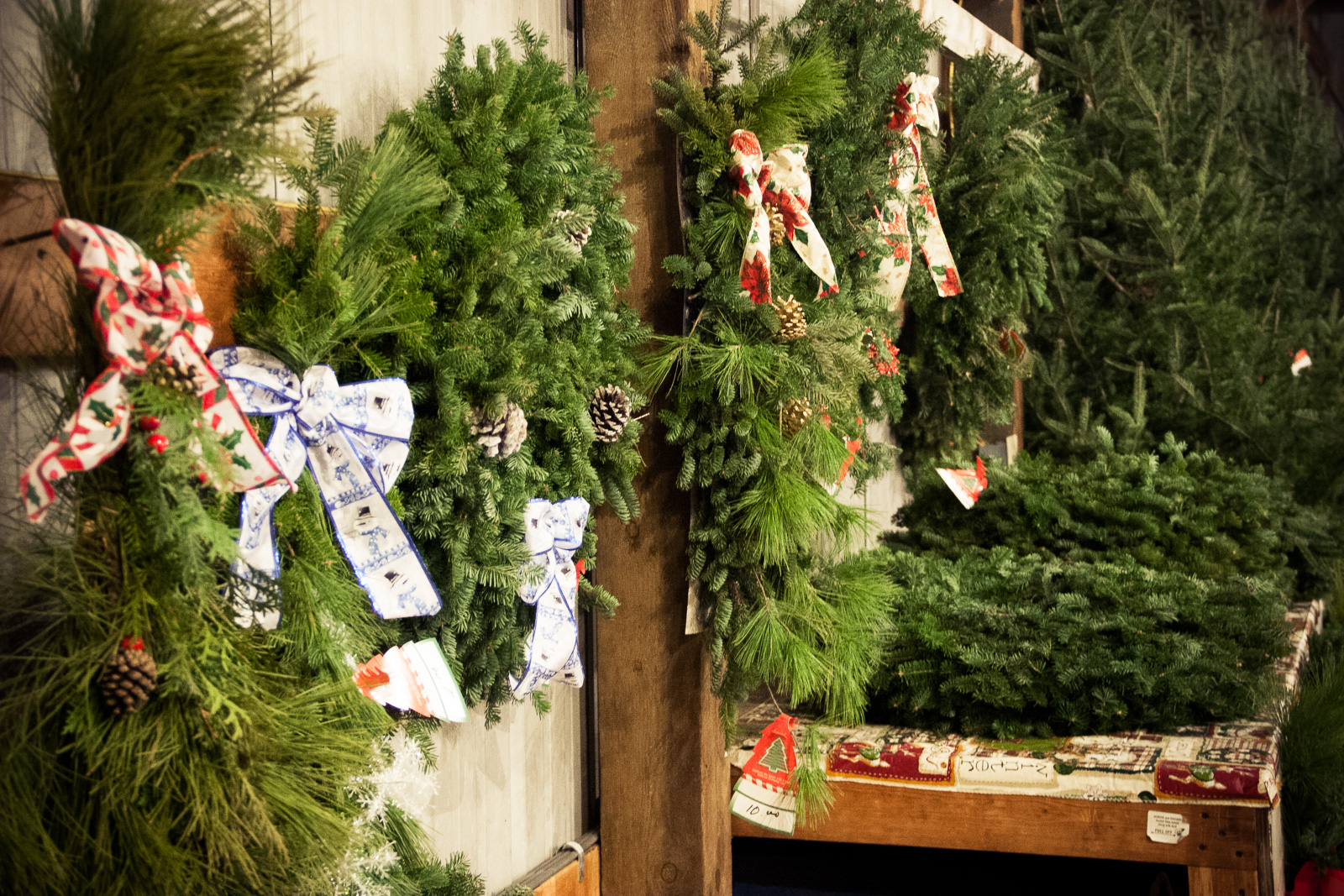 We have wreaths and tree bags--the whole kaboodle!